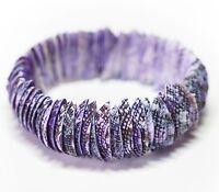 Neu MUSCHEL ARMBAND in lila/violett DAMENARMBAND Perlmutt MUSCHELARMBAND
