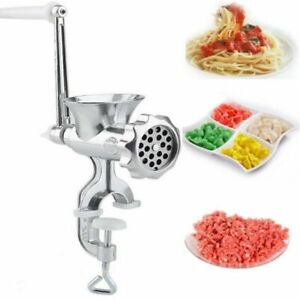 Manual Rotary Meat Grinder Mincer Machine Food Aluminium Alloy Sausage Maker UK