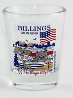 BILLINGS MONTANA GREAT AMERICAN CITIES COLLECTION SHOT GLASS SHOTGLASS