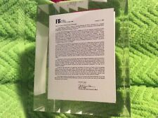 "Unique First Bank Marion County TN Shareholder Acquisition Letter 3"" Paperweight"