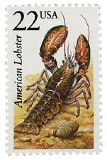 1987 22c American Lobster, North American Wildlife Scott 2304 Mint F/VF NH