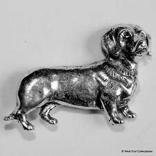 Dachshund Pewter Pin Brooch - British Hand Crafted - Sausage Dog Dashhound