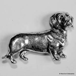 Dachshund Pewter Pin Brooch - British Hand Crafted - Sausage Dog Dashhound