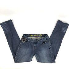Apple Bottoms 7/8 Women's Jeans Medium Wash Straight Leg Stretch Blue (Q)