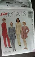 McCall's Sewing Pattern 7823 Women's Size 16 18 20 Top Pants Shorts Jacket Uncut