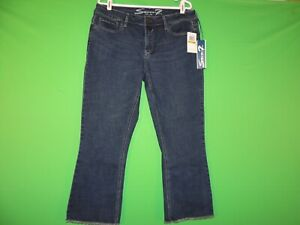 Seven7 Womens Size 14 Ankle Duster Fitted Loose Viper Blue Denim Jeans NEW