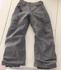 Burton kids ski Pants Zip Pockets Gray Size S us 7/8