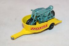 Matchbox Lesney 38 Honda Motorcycle with trailer in excellent plus condition