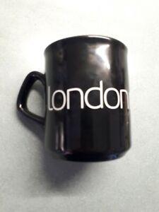 London Midland ceramic coffee mug Black