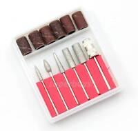 12pc Nail Art Kit Filing Manicure Pedicure File Dremel Rotary Drill Bit Tool Set