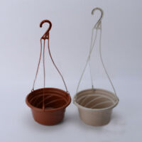 1 Pcs Hanging Flower Plant Pot Chain Basket Planter Holder Home Garden Balcony V