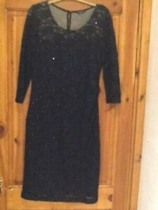 precis petite navy dress size 14