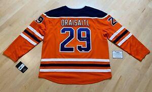 Leon Draisaitl Signed Adidas Jersey Edmonton Oilers Fanatics COA Auto BRAND NEW