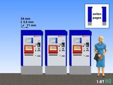 1:87 / H0 3x SBB Fahrkartenautomat Ticketautomat Billetautomat Modellland 2082-8