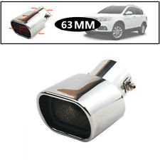 Anti-corrosive Car 63MM Stainless Steel Square Muffler Exhaust Tail Pipe Tip Kit