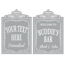 Etched Glass Style Window Panel Pub Window , Home Bar Sign Victorian Window