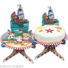 25 Cm Jake Y Los nunca Tierra Piratas Fiesta Tarjeta De Cumpleaños Pastel Stand
