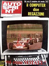 Autosprint 31 1974 Regazzoni - Fittipaldi - Lauda - Scheckter  [Sc.40A]