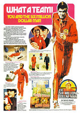 "AD42 1970's Six Million Dollar Bionic man Advertising Poster A3 17""x12"""