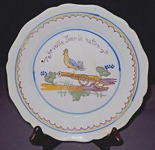 FRENCH REVOLUTION THEMED FAIENCE QUIMPER PLATE