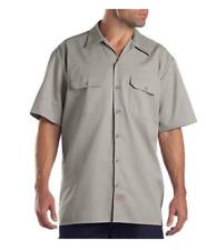 Dickies 1574 Mens Original Fit Button Down Short Sleeve Gray Work Shirt Size M