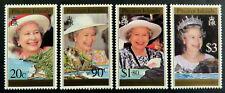 1996 Pitcairn Islands Stamps - 70th Birthday of Queen Elizabeth II - Set 4 MNH