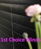 MADE TO MEASURE WOODEN VENETIAN WINDOW BLIND BLACK REAL WOOD 50MM SLATS