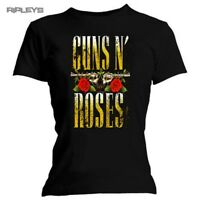 Skinny Ladies GUNS N ROSES T Shirt Distressed BIG GUNS Logo All Sizes