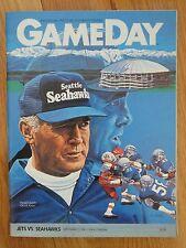 NEW YORK JETS vs SEATTLE SEAHAWKS Sept 11 1983 Program CHUCK KNOLL RICHARD TODD