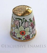 Staffordshire Enamels Spring Flowers Enamel Sewing Thimble