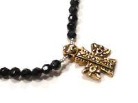 Bijou alliage doré collier créateur  Kookai Paris  croix  necklace