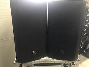 2x Electrovoice EV ZLX-12P 1000w Total PA Speakers ZLX12P C/W EV Slip Covers