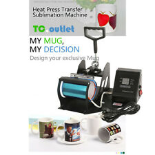 Heat Press Transfer Sublimation Machine Dual Digital for Cup Coffee Mug 11oz New