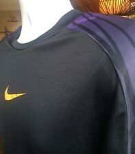 Nike Dri Fit Mercurial Mens Athletic Training T-shirt Purple Orange Print Xl