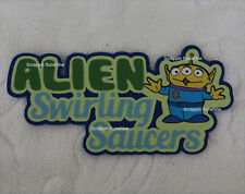 DISNEY ALIEN SWIRLING SAUCERS Die Cut Title Toy Story Land Scrapbook Paper Piece