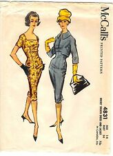 Vintage 1950s McCall's Sewing Pattern Women's DAY TO EVENING DRESS 4831 14 UNCUT