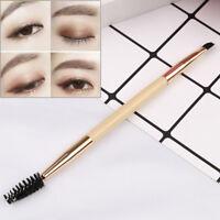Pro makeup tools bamboo handle double eyebrow brush + eyebrow comb brushes  X BC