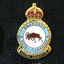 RCAF Royal  Canadian Air Force Enamel Badge 419 Squadron Tactical Fighter