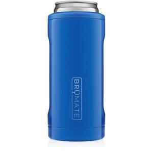 Brumate Hopsulator Slim Can Cooler Tumbler 12 oz Slim Drink Holder Royal Blue