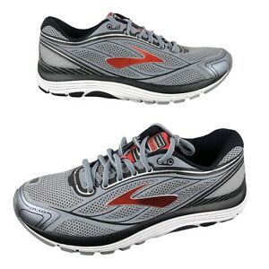 NEW Brooks Dyad 9 Cushioned Off Road Running Shoes Men's Size 9.5 Gray/Red/Black
