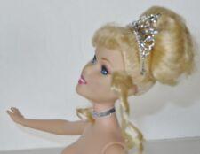 NUDE DISNEY Princess 1999 12 Inches Blonde Hair Blue Eyes Straight Leg Doll