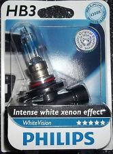 Philips Hb3 whitevision Intenso Blanco Xenón Efecto sola actualización Bombilla 4300k Hb3