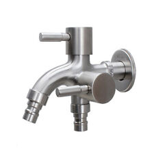 304 Stainless Steel Water Washer Tap Kitchen Faucet Two Outlet