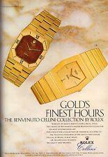 1983 Rolex Cellini Gold Watch  Print Advertisement Ad Vintage VTG 80s