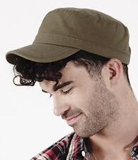 Estilo Vintage Y Retro Cadet cap-khaki-one Tamaño adjustable-100% Algodón Pesado Militar Sombrero