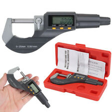 """0-1"""" 0.00005"""" LCD Digital Electronic Outside Micrometer Carbide Tip 0-25mm Kits"""