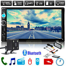 7'' 2 DIN In Dash HD Bluetooth Touch Screen Car Stereo Radio MP3 Player AUX +CAM