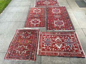 antico-swiss  5 Beautiful Antique indoKARAJA rugs 2`6x4`1and2`1x3`7and2`1x3`2