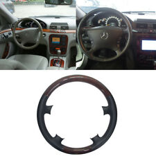 Black Leather Wood Steering Wheel Cover Decor Mercedes Benz W220 S W215 C215 CL