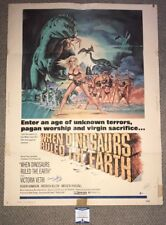 VICTORIA VETRI Signed WHEN DINOSAURS RULED THE EARTH Original Movie POSTER BAS